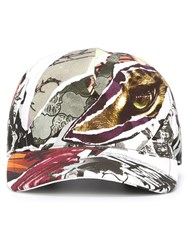 Just Cavalli Abstract Collage Print Cap Multicolour