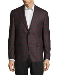 Design Lab Lord And Taylor Classic Wool Jacket Red