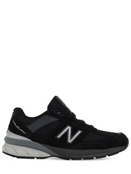 New Balance 990 V5 Suede And Mesh Sneakers Black