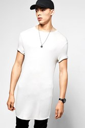 Longline Scoop Hem Waffe Knit T Shirt