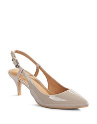 Calvin Klein Patsi Leather Slingback Pumps Beige