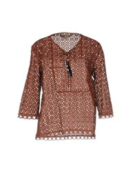 Space Style Concept Blouses Brown