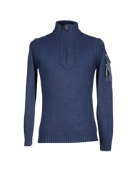 Duck And Cover Turtlenecks Slate Blue