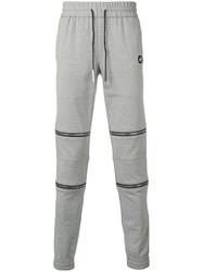 Philipp Plein Zipped Track Pants Grey
