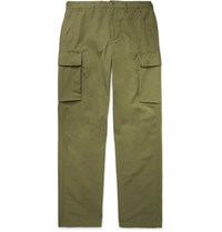 J.Crew Cotton Blend Ripstop Cargo Trousers Green