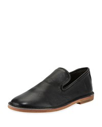 Vince Percell Tumbled Leather Loafer Black