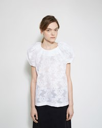 A Detacher Talla Poosa Jacquard Top White