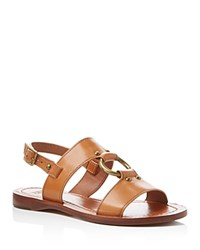 Frye Rachel Harness Strappy Slingback Sandals Tan
