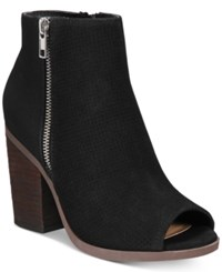 Call It Spring Metaponto Peep Toe Booties Women's Shoes Black