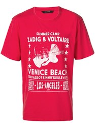 Zadig And Voltaire Tobias Printed T Shirt Red