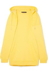 Y Project Oversized Layered Cotton Jersey Hooded Top Bright Yellow