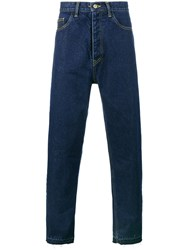 Ex Infinitas Re Done Chop Denim Jeans Cotton Blue