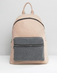 Asos Lifestyle Jersey Colourblock Backpack Multi