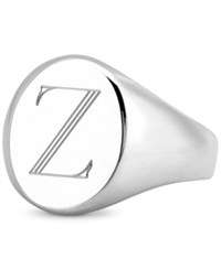 Sarah Chloe Initial Signet Ring In Sterling Silver Z