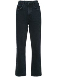 Proenza Schouler Pswl Cropped Flare Jeans Cotton Grey