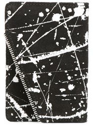 South Lane Ink Splatter Print Wallet Black