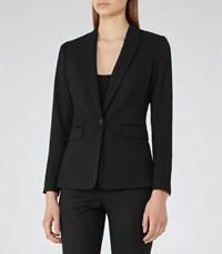Reiss Dartmouths Jacket Womens Textured Single Breasted Blazer In Black
