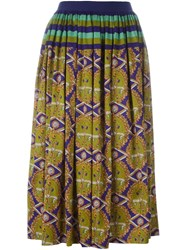 Jean Paul Gaultier Vintage 'Liberte Equalite' Skirt Multicolour