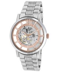 Kenneth Cole New York Watch Men's Automatic Stainless Steel Bracelet 46Mm Kc9210