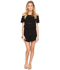 Rip Curl Sundown Solid Romper Black Women's Jumpsuit And Rompers One Piece