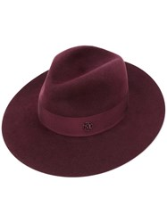 Maison Michel Band Strap Fedora Women Wool Felt M Red