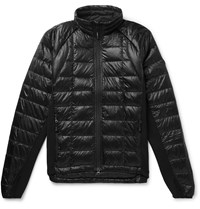 Canada Goose Hybridge Slim Fit Packable Quilted Shell And Stretch Jersey Down Jacket Black