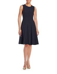 Chetta B Fit And Flare Dress Navy
