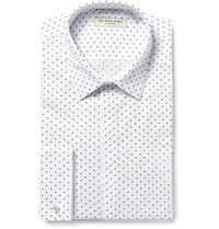 Burberry White Printed Cotton Shirt