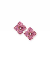 Piranesi Pink Sapphire Flower Earrings