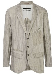 Ziggy Chen Creased Look Blazer 60