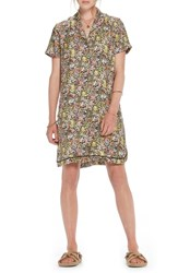 Scotch And Soda Tropical Print Shirtdress Color 17 Combo A