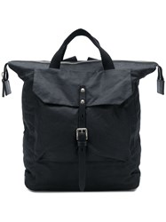 Ally Capellino Frances Waxed Rucksack Black