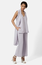 Topshop Sleeveless Utility Duster Lilac