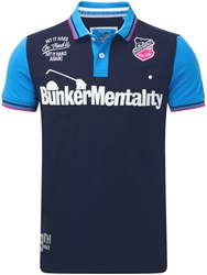 Bunker Mentality Club Polo Navy