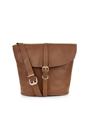 Accessorize Pippa Leather Across Body Bag Brown
