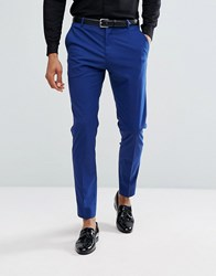Selected Homme Skinny Tuxedo Suit Trousers Blue Depths