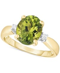 Macy's Peridot 2 1 2 Ct. T.W. And Diamond Accent Ring In 14K Gold