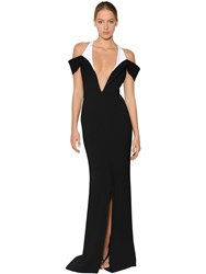 Thierry Mugler Two Tone Cady Gown