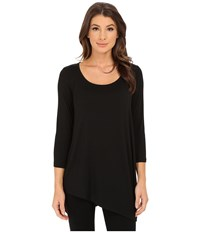 Nydj City Sport Leah Basic 3 4 Sleeve Tee Black 1 Women's T Shirt