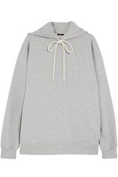 Bassike French Cotton Terry Hooded Sweatshirt Light Gray