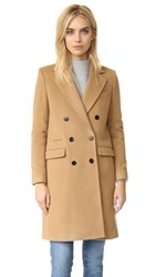 The Kooples Straight Twill Coat Camel