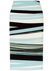 Fenn Wright Manson Madrid Stripe Skirt Blue