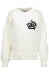 J.W.Anderson Embroidered Cotton Sweater Ivory