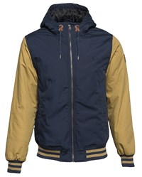 Element Men's Dulcey Cotton Blend Showerproof Zip Up Jacket Navy