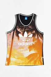 Adidas Originals Palm Print Mesh Tank Top Multi