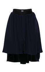 Alexis Mabille Pleated Asymmetrical Skirt Navy
