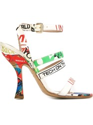 Vivienne Westwood Printed Strappy Sandals Multicolour