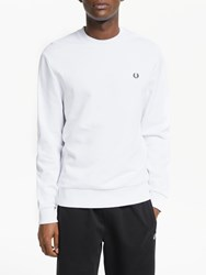 Fred Perry Terry Laurel Back Sweatshirt White