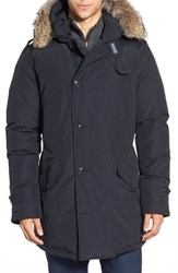 Men's Woolrich Longline Parka With Genuine Coyote Fur Trim