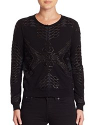 Ralph Lauren Beaded Wool Cardigan Black Espresso
